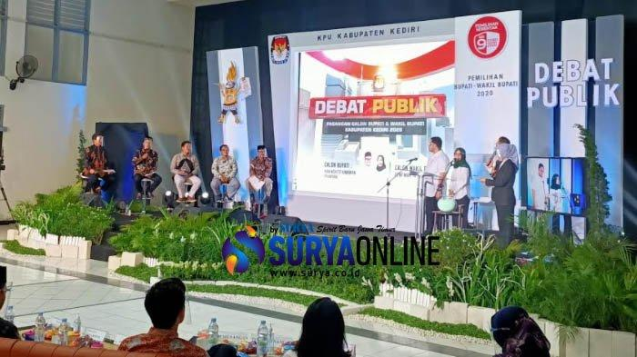Debat Publik Pilkada Kediri 2020 Terakhir Usung Tema Tata Kelola Pemerintahan dan Pelayanan Publik