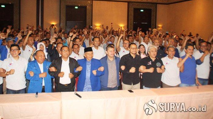 Didampingi Amien Rais dan Ratusan Voters, Mulfachri - Hanafi Deklarasi Maju di Kongres PAN