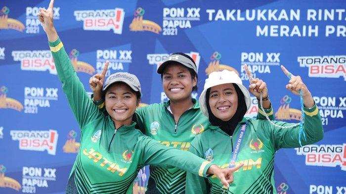 Hasil Panahan PON XX Papua 2021 - Jatim Tambah Satu Medali Emas Nomor Compound Beregu Putri
