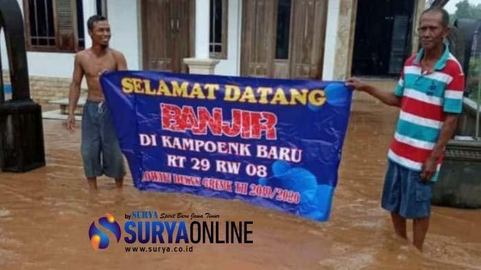 Desa Asal Bupati Gresik Banjir, Warga Tuding Pemkab Tak Serius Tangani Banjir