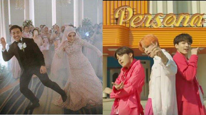 Detik-detik Pengantin Bekasi Nge Dance Lagu Boy With Luv - BTS Saat Resepsi, Bikin Para Tamu Ambyar