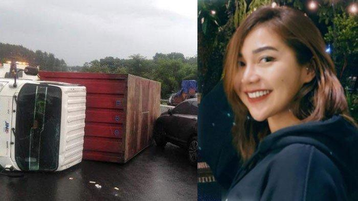 Kecelakaan di Jalan Tol Semarang-Solo (kiri) dan Chacha Sherly (kanan). JDDC beber fakta di balik kecelakaan yang menewaskan Chacha Sherly