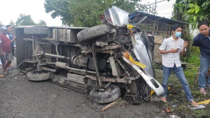 Elf Oleng Tewaskan Pengendara Sepeda Motor di Kabupaten Lamongan, Diduga Baut Setir Lepas