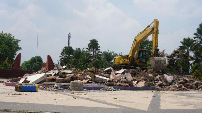 Tugu Alun-alun Kota Mojokerto Dibongkar, Diganti Tugu Majapahit Setinggi 45 Meter
