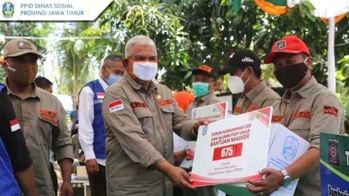 Libatkan Pilar Sosial dan Bank Himbara, Dinsos Jatim Launching Gerakan Ayo Pakai Masker