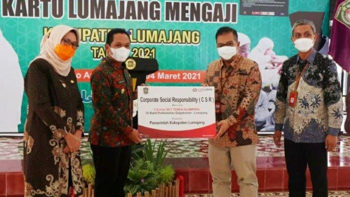 Bank Jatim Serahkan CSR Berupa Tenda Kekinian guna Pengembangan Pariwisata Kabupaten Lumajang