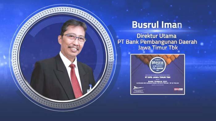 Bank Jatim Raih Penghargaan sebagai Bank Terbaik 2021