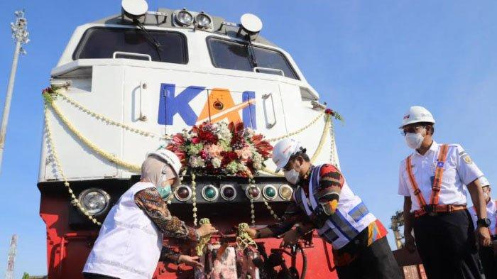 Angkutan Logistik KA Kembali Operasional di Terminal Petikemas Surabaya