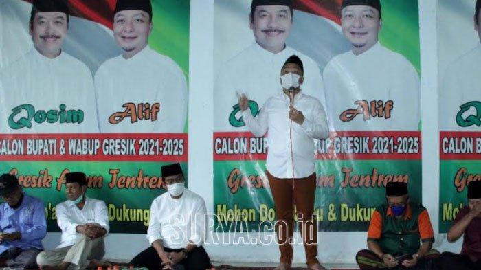Pak Qosim-Dokter Alif Optimistis Menang 70 Persen di Kecamatan Benjeng Kabupaten Gresik