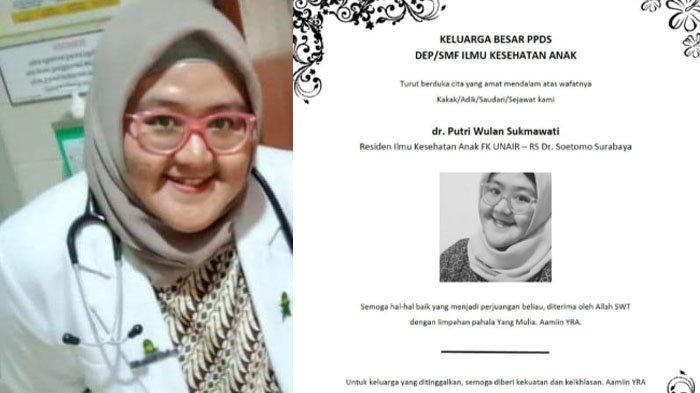 Kronologi Dokter Putri Wulan Sakit hingga Meninggal karena Covid-19 dan Kondisi 5 Rekan yang Dirawat