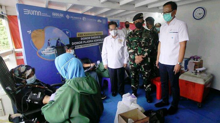 Stop Stigmatisasi ke Penyintas Covid-19, Pelindo Marines Gelar Donor Darah di KRST Ksatria Airlangga