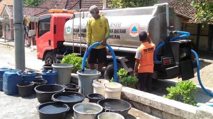 Permintaan Dropping Air Bersih Turun Drastis Saat Musim Kemarau Tahun Ini di Lamongan, Penyebabnya