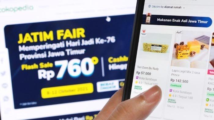 Dongkrak Penjualan UMKM hingga 3,5 Kali Lipat, Tokopedia kembali Dukung Jatim Fair Hybrid