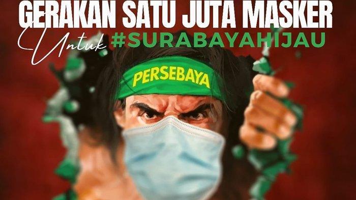 Bonek Lakukan Gerakan Satu Juta Masker untuk Surabaya Hijau, Ini Sasarannya