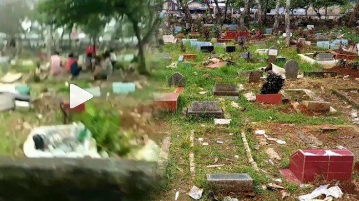 EFEK Video Viral Dangdutan di Kuburan yang Meresahkan Warga, Satpol PP 'Serbu' TPU Pancoranmas