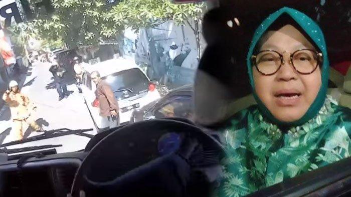 EFEK VIRAL Mobil PMK Surabaya Terhambat Kendaraan Parkir, Wali Kota Risma Tindak Sampai ke Polisi