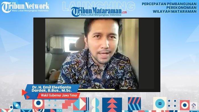 Wagub Emil Dardak Bicara Pembangunan Kawasan Mataraman di Acara Launching Tribunmataraman.com