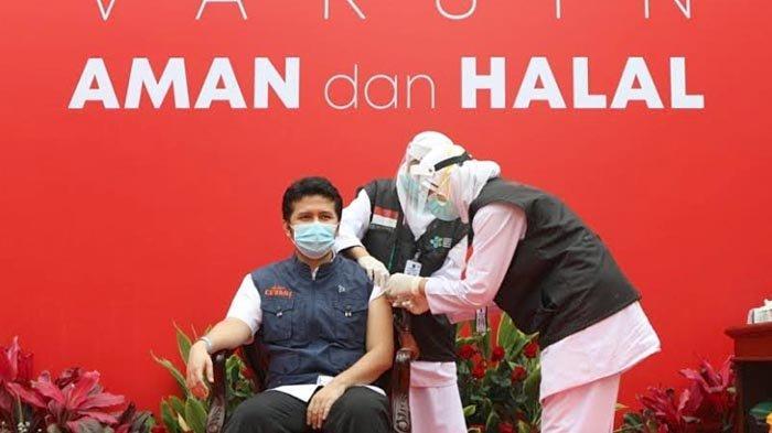 Pemprov Jatim Gelar Vaksinasi Covid-19 Tahap Kedua, Wagub Emil Dardak Jadi yang Pertama Disuntik