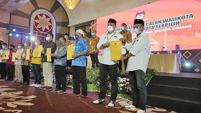 Ditetapkan Sebagai Wali Kota Surabaya Terpilih, Eri Cahyadi Meminta Tak Ada Euforia