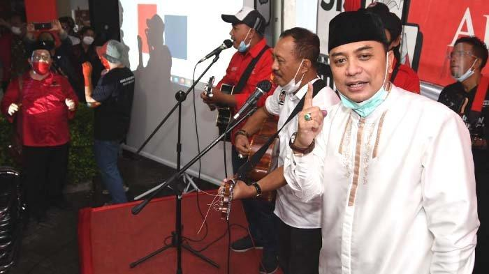 Eri Cahyadi - Armuji Unggul Hasil Pilwali Surabaya 2020, Ungkap Makan Pidato Innalillahi