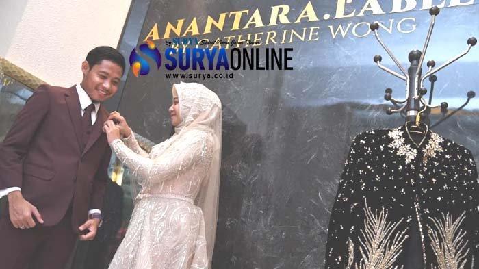 Galeri Foto Kemesraan Evan Dimas & Dewi Zahra saat Fitting Baju Resepsi Pernikahan di Anantara Label