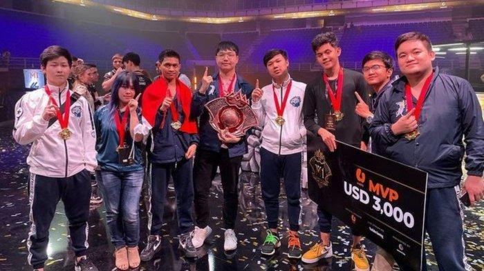 EVOS Legends saat menjuara M1 World Championship alias Piala Dunia Mobile Legends pada tahun 2019 silam