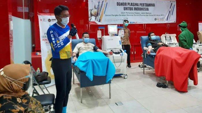 Perwira Pertamina Semangat Berdonor Plasma Konvalesen untuk Indonesia