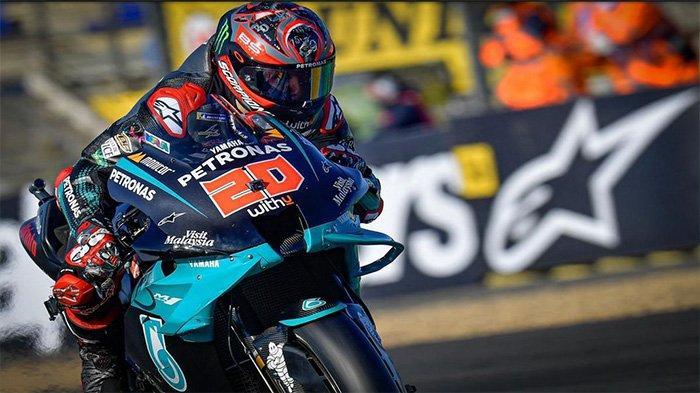 Fabio Quartararo di Sirkuit Le Mans, El Diablo hanya finisih di urutan ke-9, Minggu (11/10/2020)