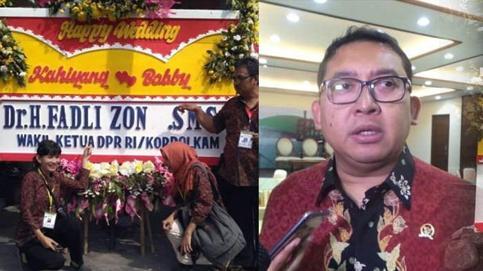 Karangan Bunga Fadly Zon untuk Pernikahan Kahiyang Ditertawakan Relawan Jokowi, Katanya Makjleb