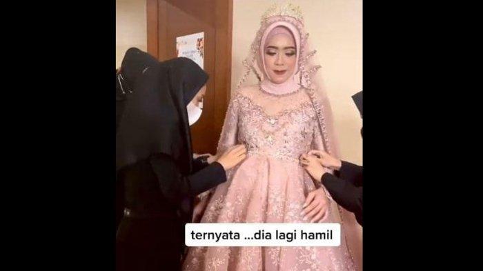 Fakta Sebenarnya Video Pengantin Wanita Hamil 8 Bulan saat Resepsi Pernikahan yang Viral di TikTok