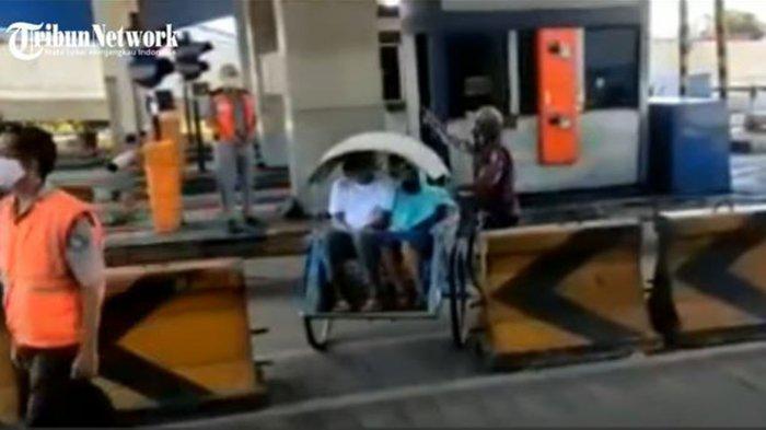 5 FAKTA Video Viral Becak Melintas di Tol Dupak Surabaya, Kasus Sebelumnya Mengaku Salah Jalan