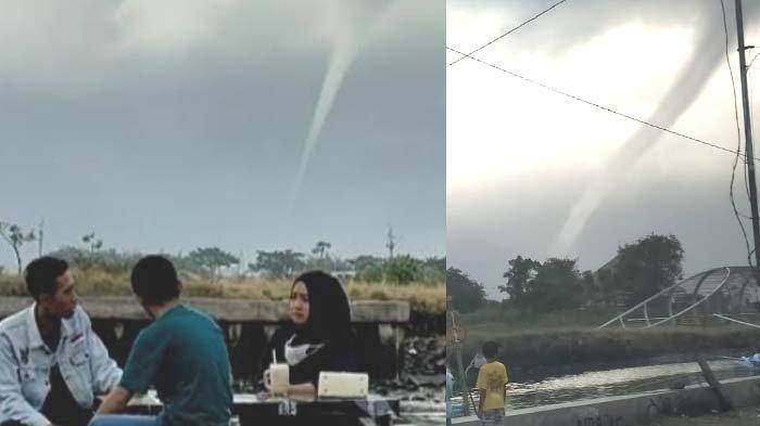 Muncul Fenomena Alam Waterspout di Selat Bali, Masyarakat Tak Perlu Resah, ini Kata BMKG Banyuwangi
