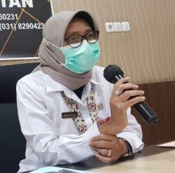 Kepala Dinas Kesehatan Provinsi Jawa Timur, Herlin Ferliana.