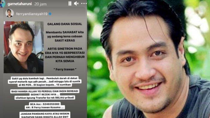 Biodata Ferry Irawan Aktor yang Sakit Parah hingga Teman Artis Buka Donasi, Istri Lebih Dulu Stroke
