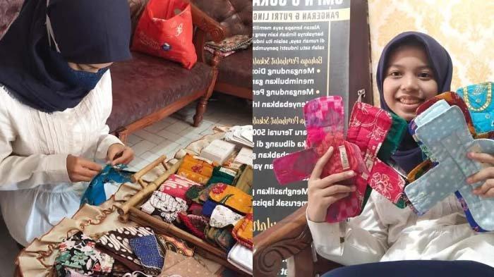 Siswi SMPN 6 Surabaya Bikin Pembalut dari Kain Bekas, Idenya Muncul sejak Kelas VI SD