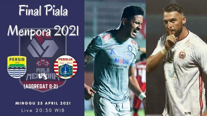 Prediksi Skor Persib vs Persija Jakarta, Final Piala Menpora 2021: Ezra Walian Cs Kejar Defisit Gol