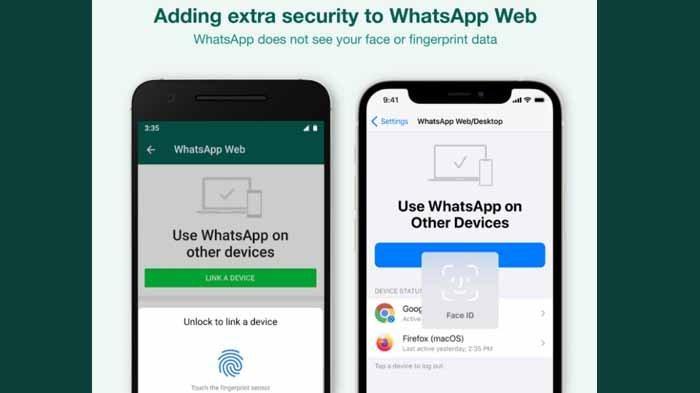Fitur Baru WhatsApp Wajibkan Pengguna Pindai Wajah atau Jari, Untuk Apa?