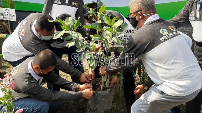 Hari Pohon Sedunia, PT Smelting Tanam Pohon Langka dan Ruang Terbuka Biru di Kabupaten Gresik