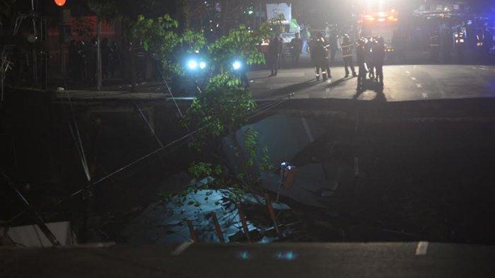 Update Peristiwa Jalan Raya Gubeng Surabaya Ambles, Mulai Kondisi Terkini sampai Pengakuan Warga