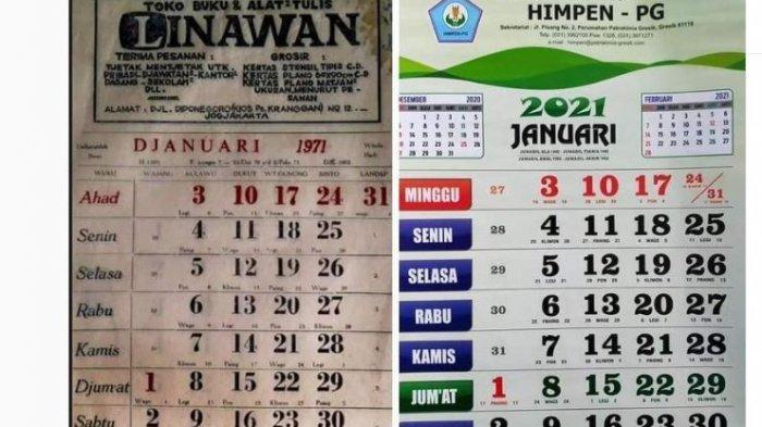 FAKTA Foto Viral Kalender 1971 dan 2021 Ternyata Sama, Peneliti Ungkap Misteri di Baliknya
