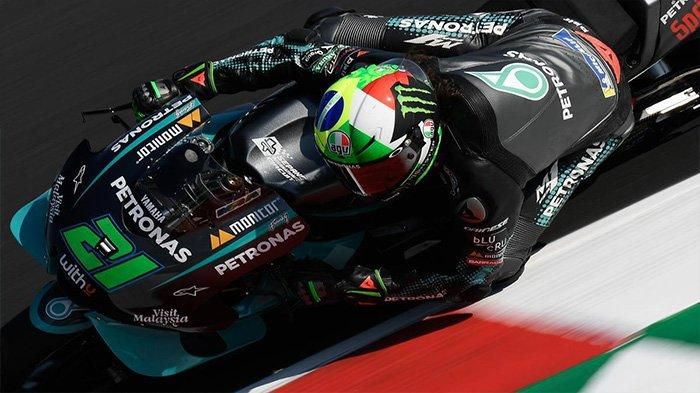 Pembalap Yamaha Petronas SRT Franco Morbidelli