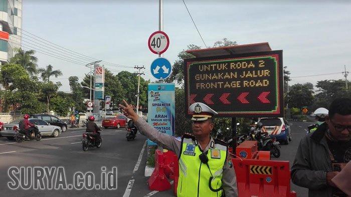 Polrestabes Surabaya Terapkan Larangan Putar Balik di Sepanjang Frontage Road Ahmad Yani