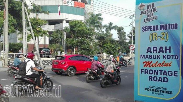 Rawan Kendaraan 'Nyerempet' Dari Arah bundaran Waru Ke Frontage Jalan Ahmad Yani