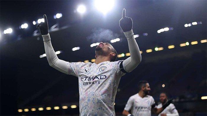Gabriel Jesus berhasil mencetak gol saat bertandang ke markas Burnely, Kamis (4/2/2021) dini hari