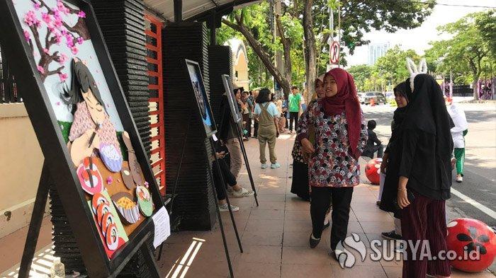 SMA Negeri 1 Surabaya Sulap Jalan Wijaya Kusuma menjadi Gallery on The Street
