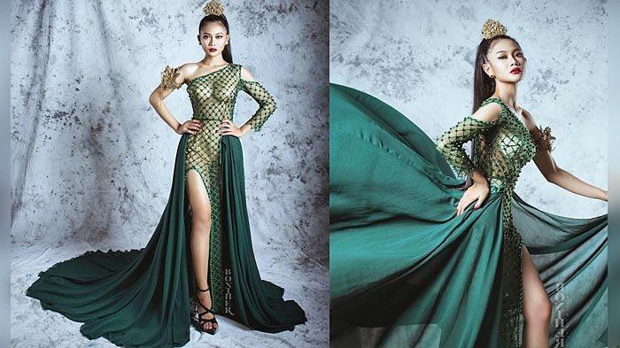 Gaun Pesta Hijau Elegan Rancangan Desainer Leonardo, Terinspirasi dari Zamrud Khatulistiwa