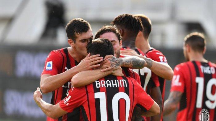 LIVE SCORE LIGA CHAMPIONS, AC Milan 1 - 0 Atletico Madrid, Milan 10 Pemain Sejak Menit 29