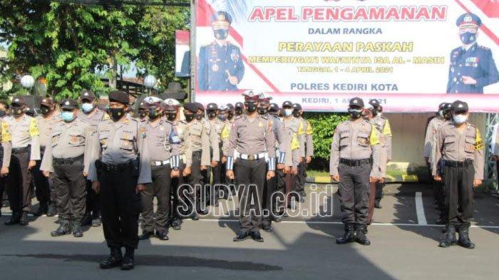 Pengamanan Gereja Jelang Perayaan Paskah di Kota Kediri, Ratusan Personil Polisi Dikerahkan