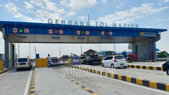Puncak Mudik Lebaran, Arus Kendaraan di Gerbang Tol Madiun Hingga Rest Area Ngale Lancar