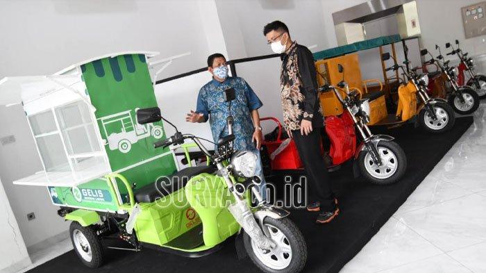 Motor Gerobak Listrik (Gelis) Resmi Ngaspal di Kota Surabaya, Dibandrol Seharga Rp 20 Jutaan